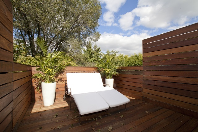 Roof terrace - wooden furbishing