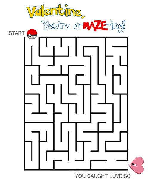valentine day mazes coloring pages - photo#11