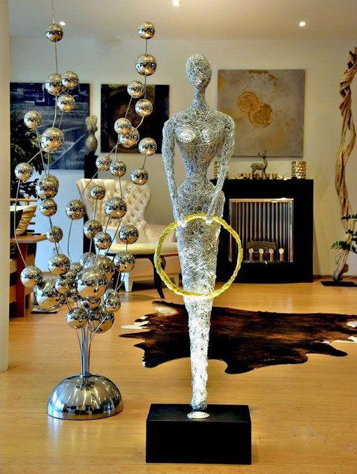 Design Draht Lampen & Draht Skulptur Leuchten - LED, Licht, Kunst ...