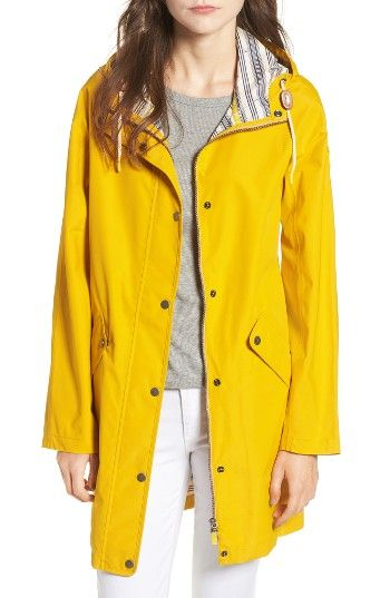 Free shipping and returns on Barbour Pegmatite Waterproof Hooded Raincoat at Nordstrom.com. Stay dry and cool in a waterproof yet breathable slicker in cloud-chasing yellow with an adjustable hood, flap-secured pockets and a sporty stripe-patterned lining.