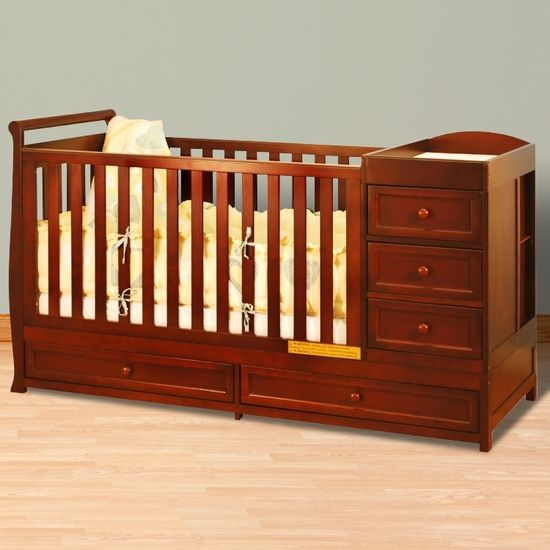 Afg Daphne I 2 In 1 Convertible Crib And Changer Combo In