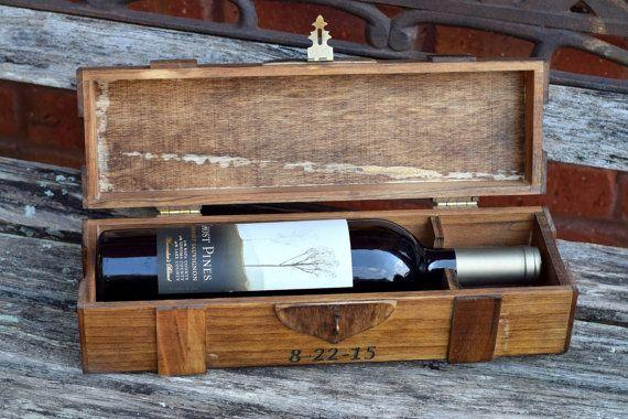Rustic Wedding Wine Box Wine Capsule Wedding Capsule