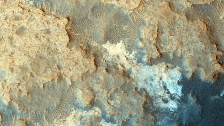 Curiosity Rover at 'Pahrump Hills'