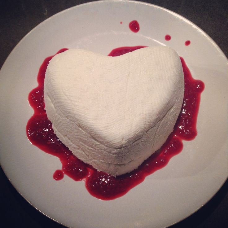 Coeur à la Crème from Valentine's Day 2014. Link for recipe in post.