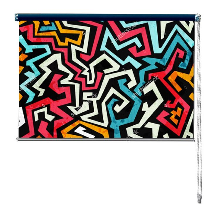 Rolgordijn Graffiti | De rolgordijnen van YouPri zijn iets heel bijzonders! Maak keuze uit een verduisterend of een lichtdoorlatend rolgordijn. Inclusief ophangmechanisme voor wand of plafond! #rolgordijn #gordijn #lichtdoorlatend #verduisterend #goedkoop #voordelig #polyester #graffiti #kunst #kleuren #roze #blauw #oranje