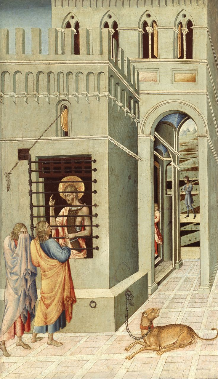 Saint John the Baptist in Prison visited by two Disciples - Google Search