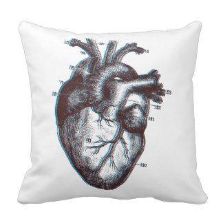 Menschliches Herz - Anatomie Zierkissen