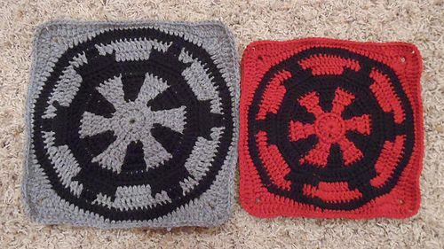 Star Wars Imperial Square by Mallory Walleck ~ free pattern ᛡ