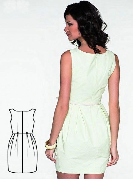 Милое платье для офиса | Выкройки онлайн и уроки моделирования