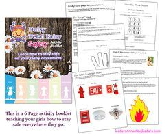 ACCESS BOOKLET INSTANTLY AND PRINT AT HOME In this activity booklet you will teach your girls about their personal safety, choking safety, and fire safety. Using this booklet you will do activities and games that will help your girls remember their address, phone number, what to do when someone is choking, and what to do in a fire emergency. This activity booklet will fulfill the requirements and give you everything you need to earn the Daisy Safety Award. When the girls have completed…