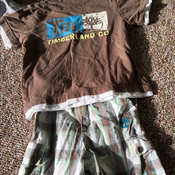 little boys timberland set little boys shorts and shirt! size 4 Timberland Other