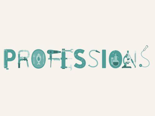 Professions - Animated Type