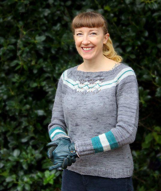 knitting pattern: Elkko by Renée Callahan; seamless, top down raglan in aran weight yarn