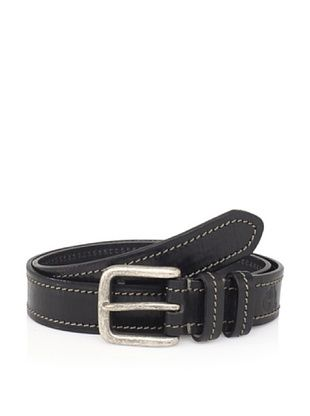 49% OFF Maker & Company Men's Contrast Stitched Belt (Black)