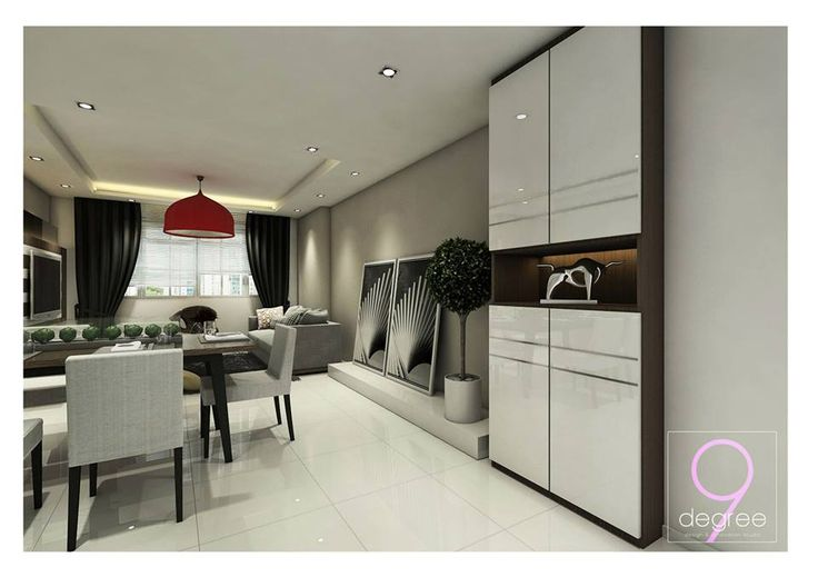 Living Room, Dining Area, Shoe Cabinet