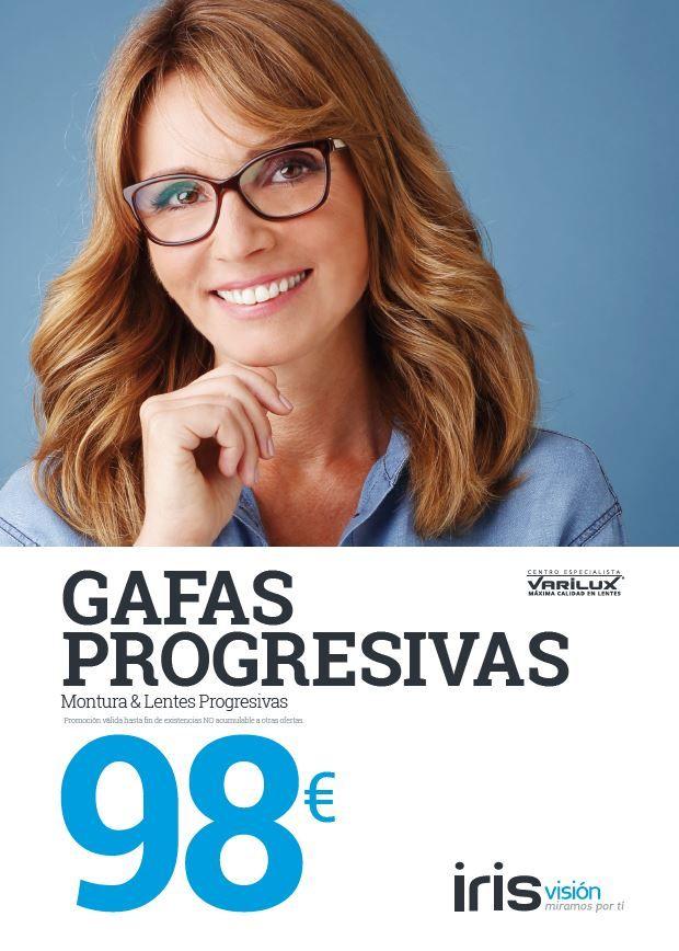 Campaña de Gafas Progresivas diseñada para la cadena de ópticas Iris Visión.