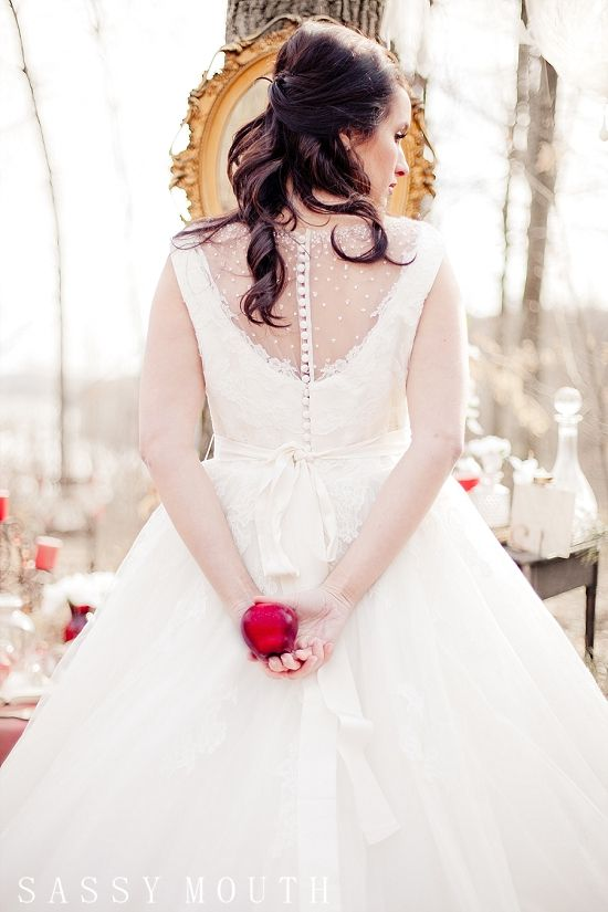 Snow White Bride Princess Wedding - Snow White {Styled Winter Wedding Photo Shoot – Connecticut} Sassy Mouth Photography | Country Girl Collections | Sassy Mouth Photography {The Blog}