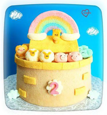 Loving Creations for You: 'Noah's Ark' Chiffon Cake