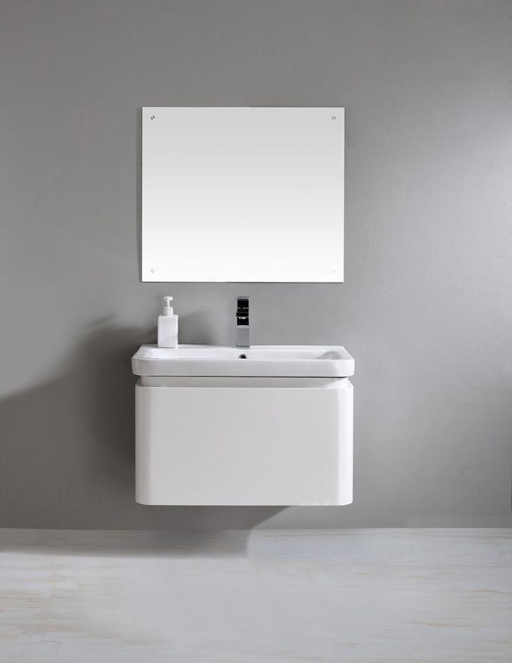 Siena 700 White Vanity