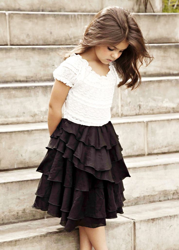 beautiful little girl and such a cute modest outfit for little girls.
