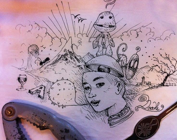 "Cradam 20/4/12: doodle just before the ""fruits de mer"""