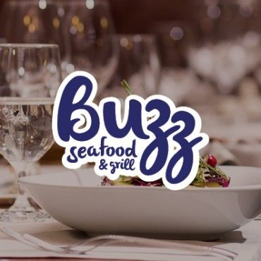 Buzz Seafood & Grill corporate identity and website development.