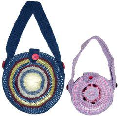 Tutorial: carteras o bolsos tejidos en telar redondo de 15 y 40 cm. de diámetro!