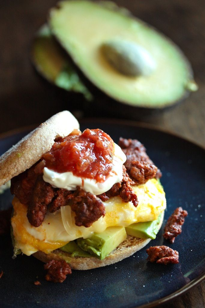 Chorizo Egg Breakfast Sandwiches - We just need more chorizo in our lives generally.