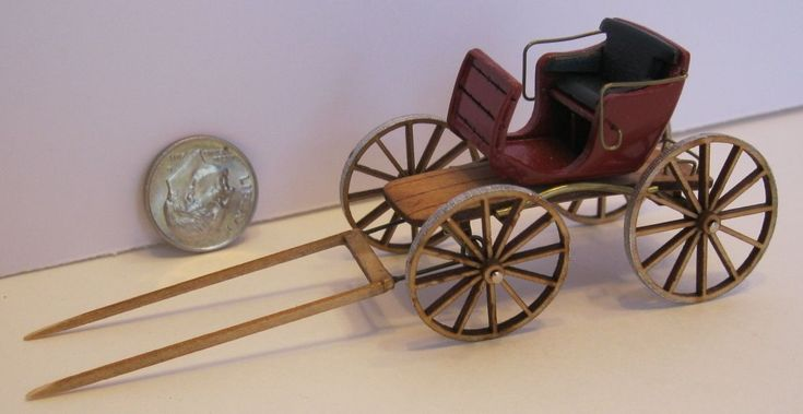 Wagon Quarter Scale Deluxe Buck board Hand Made Terry Harville Miniature