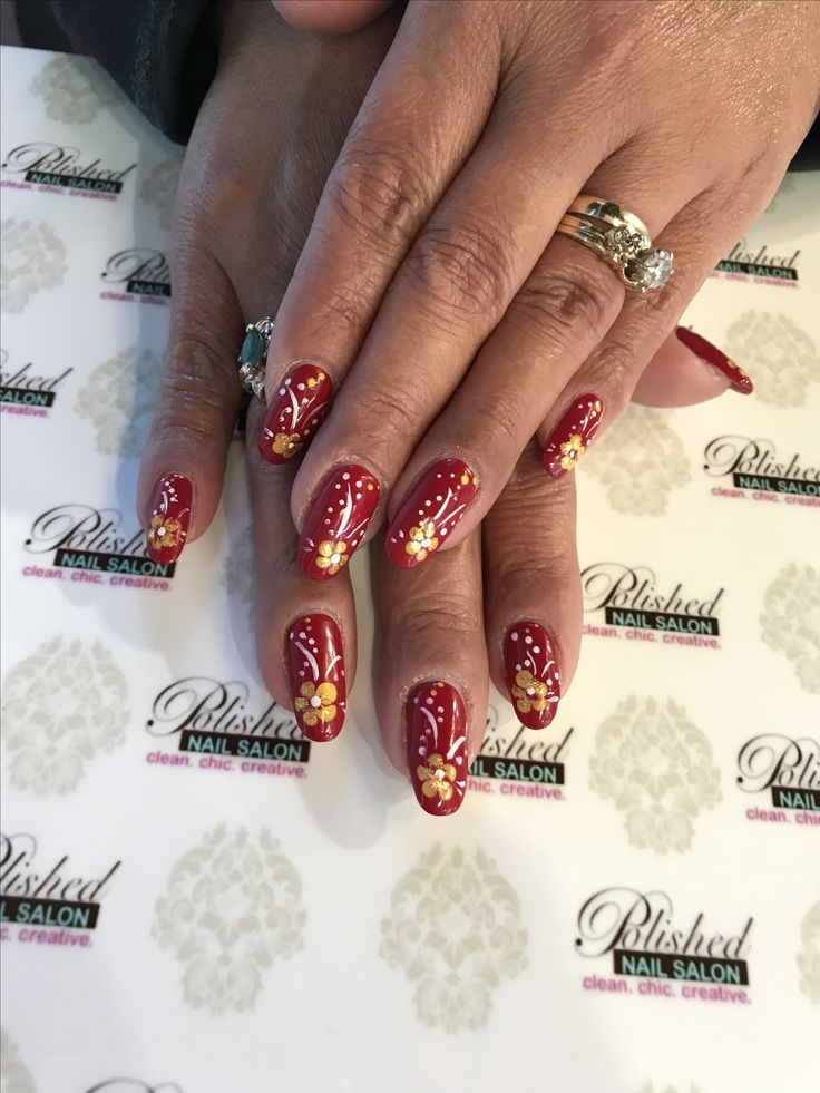 93 best Flower Nails images on Pinterest | Yellow, 3d nails and ...