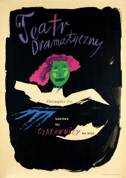 The Lady's not for Burning Szkoda tej czarownicy na stos Tomaszewski Henryk Polish Poster