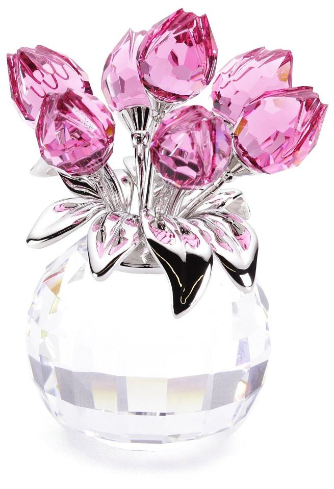 Swarovski Crystal Rose Tulips