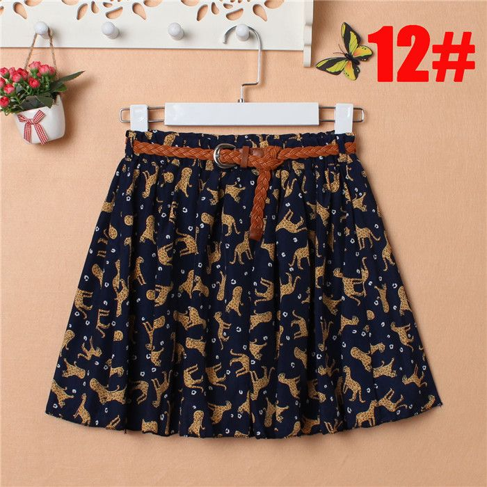 Fashion Korean Women skirt Summer Sexy Floral Print Skirt Chiffon Pleated mini Short Skirt Free With Belt