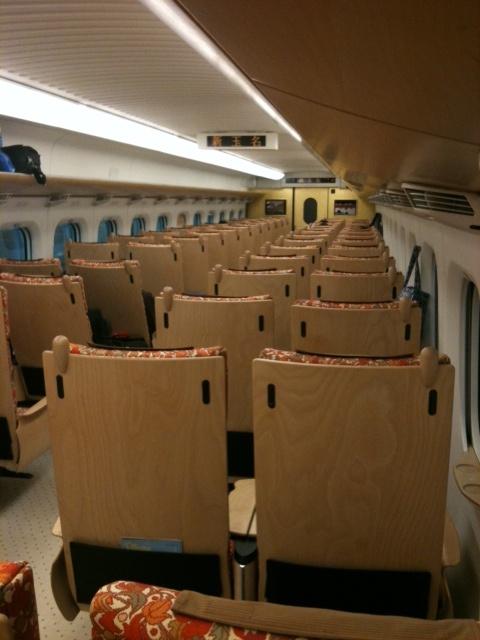 九州新幹線つばめの車内 Kyushu-shinkansen TSUBAME