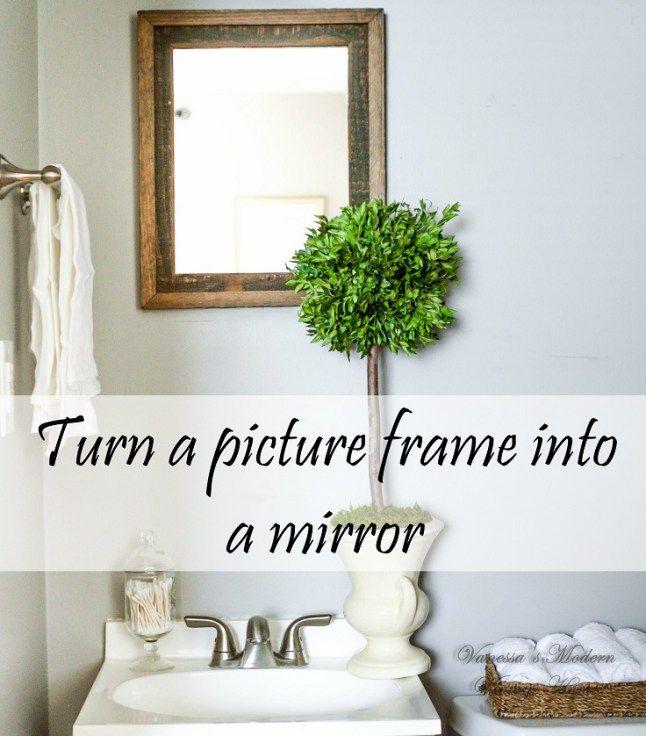 Frame into mirror