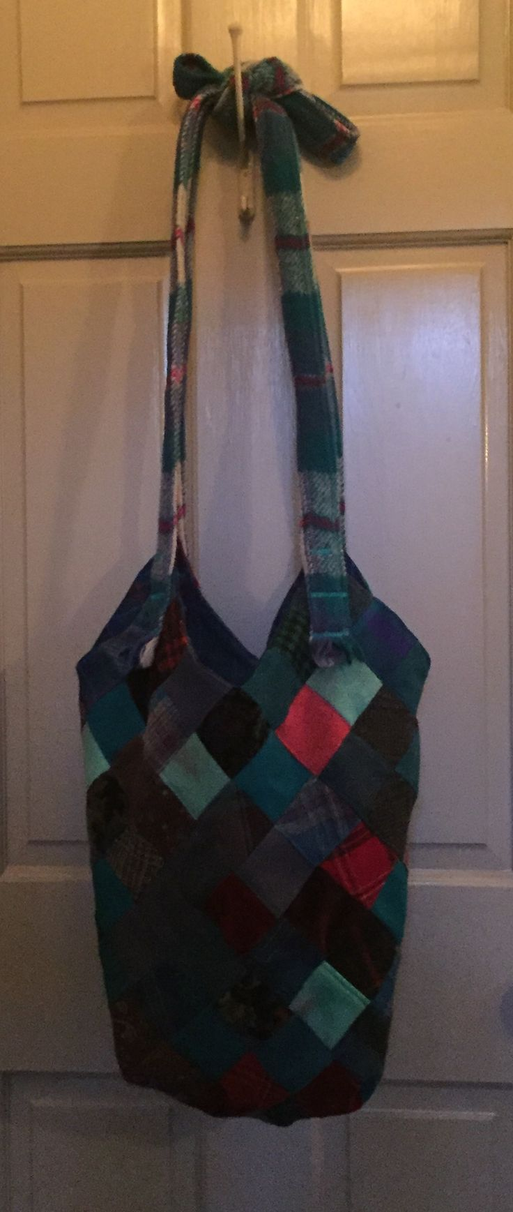 Wool patchwork bag