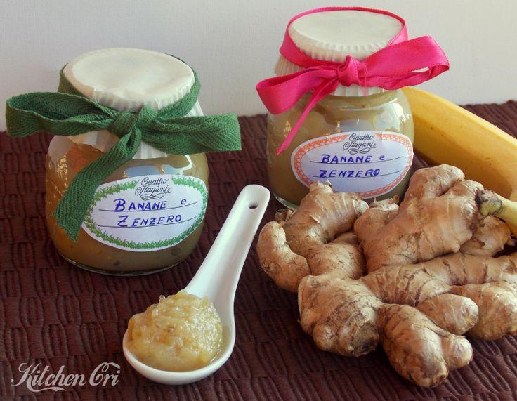 confettura di banane e zenzero facile e veloce dal gusto ricco e delicato per essere spalmata sul pane o per ripieno a dolci ottima anche sul formaggio