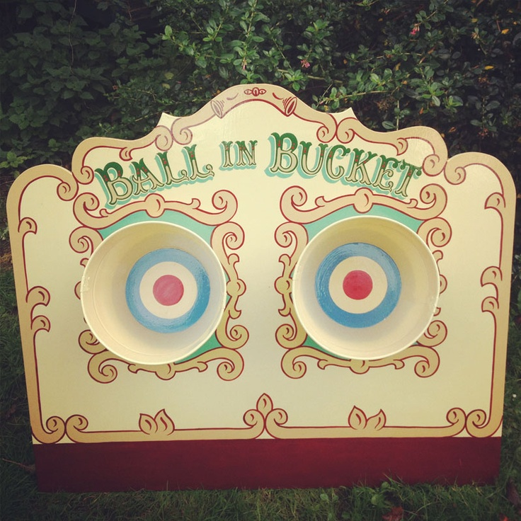 One of our most beautiful fairground games. A stunning hand painted design. This game provides not only entertainment but also a definite talking point. It is comprised of two buckets set in a freestanding wooden frame with a surrounding barrier to mark where to stand when throwing the balls. Hire this for only £40.