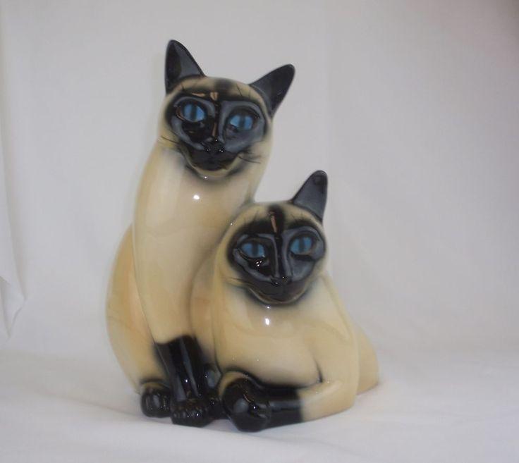 California Pottery Leland Claes 1954 Siamese Cat Retro TV  Lamp #lelandclaes #catlamp #tvlamp