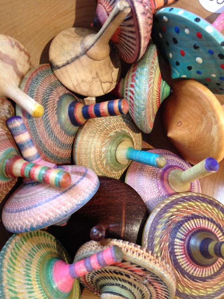 ... Spinning Top Designed By Artist Katy Holford. Toupies De Bois