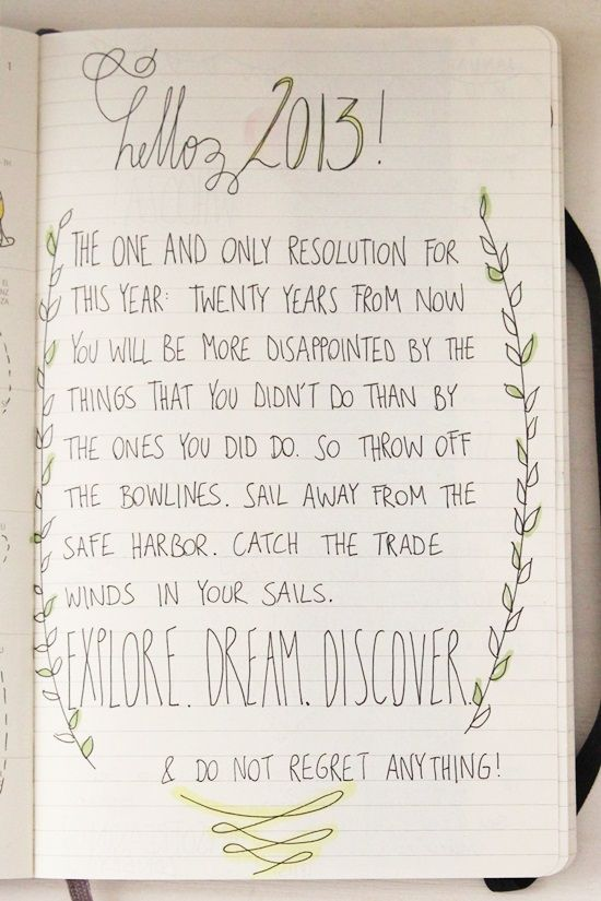 a new year's resolution {
