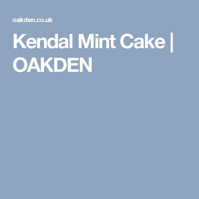 Kendal Mint Cake | OAKDEN