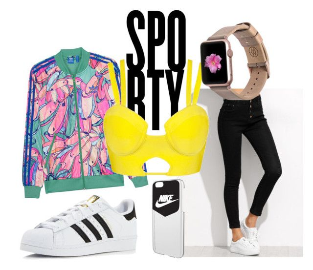 Sporty Lingerie by messypineapple93 on Polyvore featuring adidas Originals, adidas, Monowear and NIKE