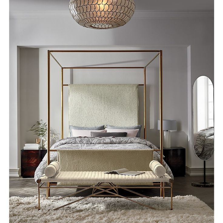 Clear acrylic canopy bed is just fabulous in this Palm