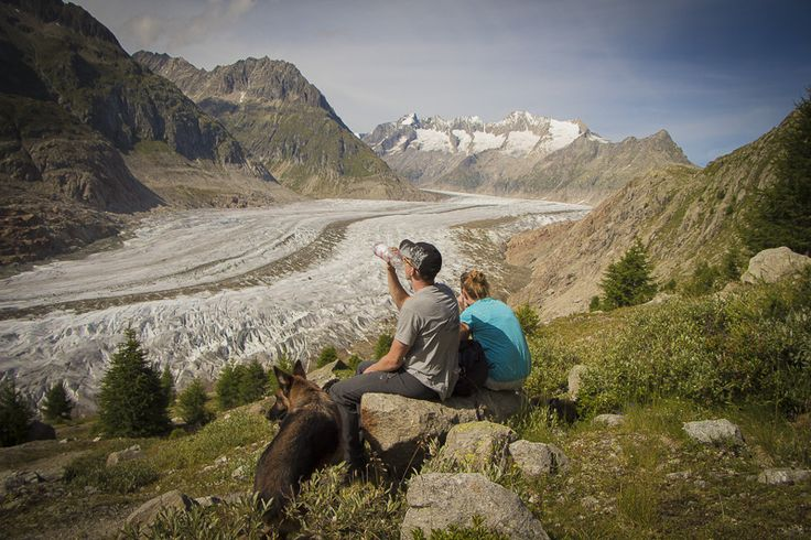 Feel free and enjoy blissful moments at the great glacier in the Aletsch Arena