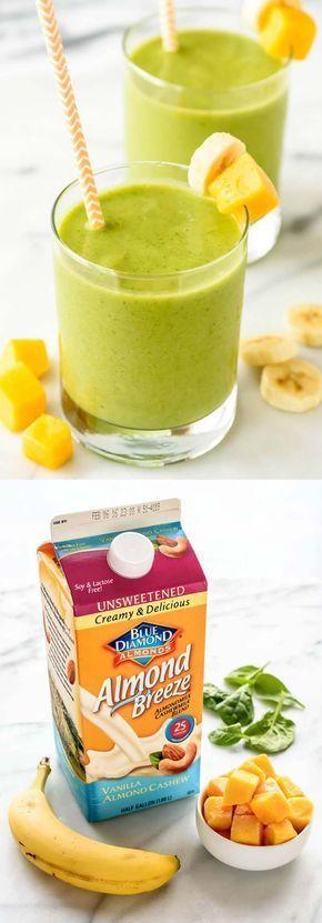 Healthy Smoothie Recipes - 4 Ingredient Mango Green Smoothie Recipe For Fat Burn- The Best Healthy Smoothie Recipes Including Tips and Tricks And Recipes For Fresh Fruit Smoothies, Breakfast Smoothies, And Green Smoothies That Are Super-Healthy. We Also I