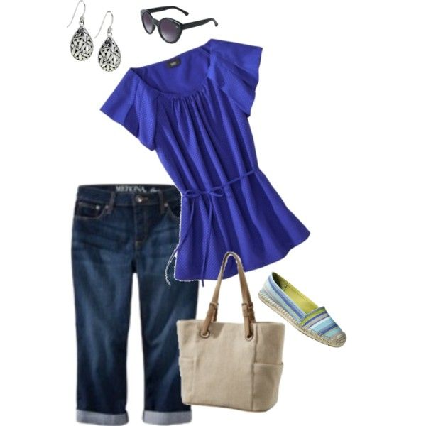 Target Outfit Jean Capris, created by r4294fun on Polyvore
