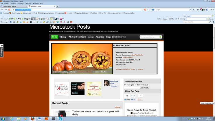 Got featured on the Home Page of http://www.microstockposts.com/