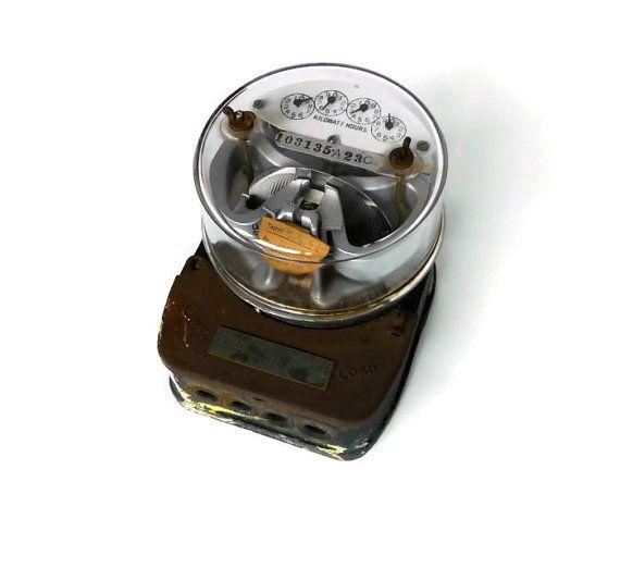 Vintage Industrial Electric Meter | Gadgets | Industrial ...