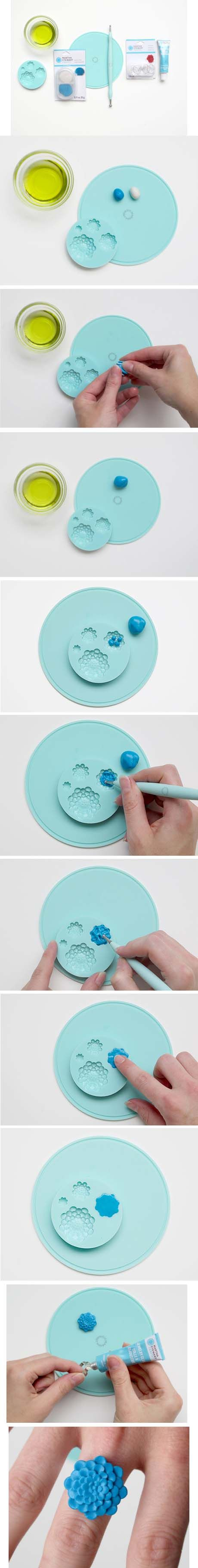 DIY Martha Stewart Crafts Jewelry Epoxy Clay Ring #marthastewartcrafts